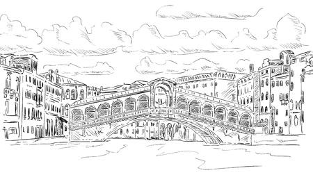ベクトル - リアルト橋ヴェニス、イタリア