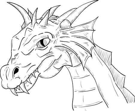vector - dragon head , isolated