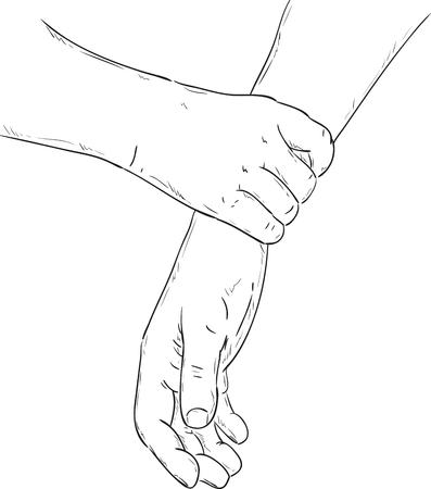 fermo: vector - presa salda della mano