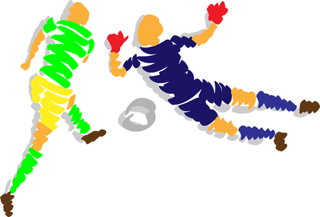 keeper: abstract design soccer  - isolated on background