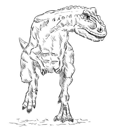 tiranosaurio rex: dinosaurio, aislado en el fondo