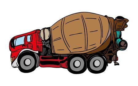agitation: vector  - agitation truck tuning isolated on background