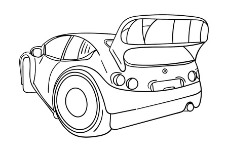 motorsport: vector - sport car - isolated on background Illustration