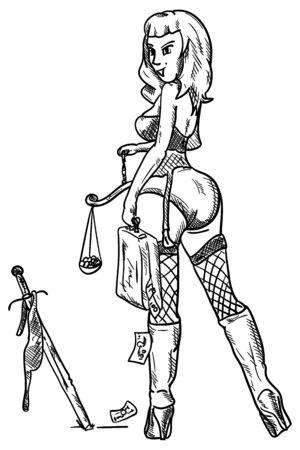 injustice: vector - modernized injustice - isolated on background Illustration