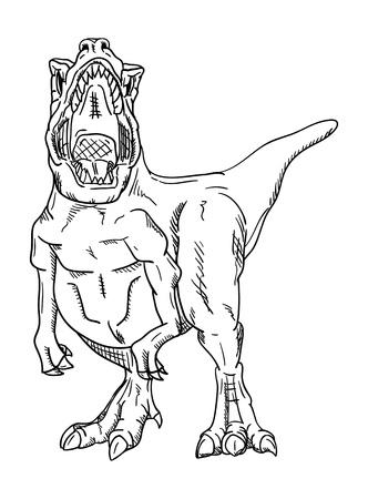 cartoon t rex: dinosaur , isolated on background