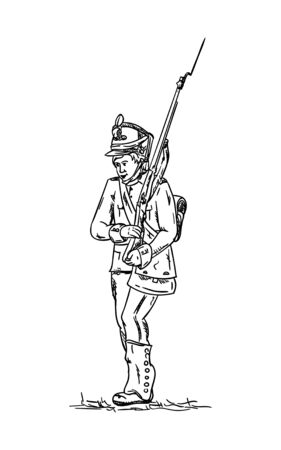 militant: vector - isolated on background -Soldier