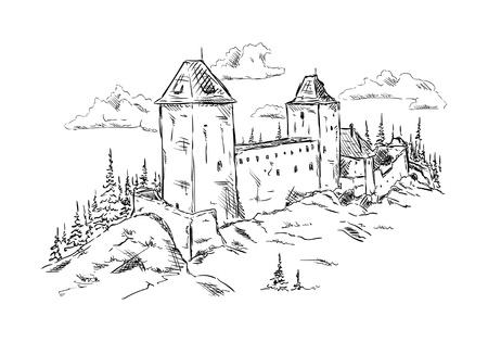 vector - isolated on background - Kasperk, Czech republic