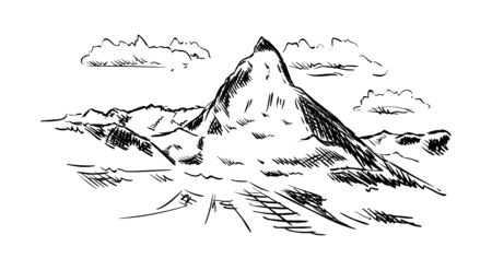 matterhorn: vector - isolated on background - Matternhorn