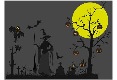 Halloween theme vector illustration.