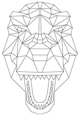 Geometric head dinosaur isolated on background. Vektoros illusztráció