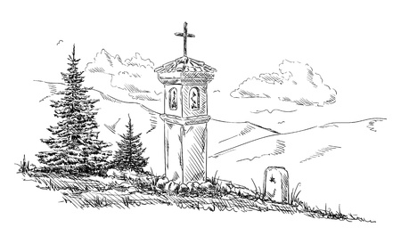 Calvary isolated on background Vector illustration.