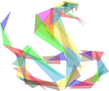 vector - snake colored glass triangle - isolated on background