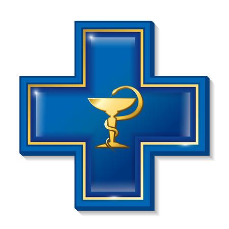 simbolo medicina: Los servicios de salud firman, s�mbolo. Medicina s�mbolo de la serpiente, cruz