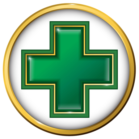 beauty surgery: Medical cross. Medical sign. Symbol of medicine.