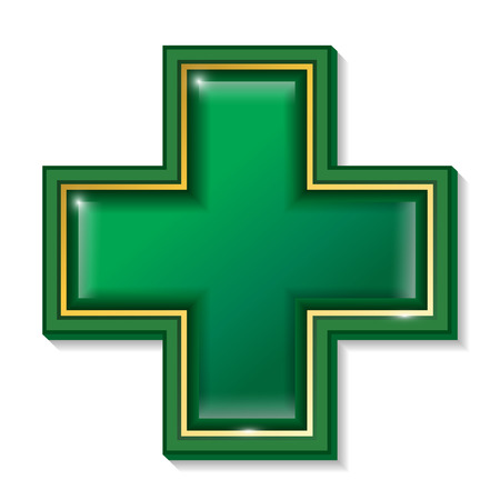 beauty surgery: Health services sign symbol cross.