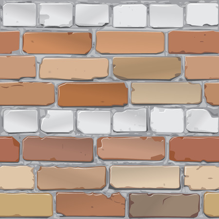 red brick: Brick wall. Brick gray, red. Background.Vector Illustration