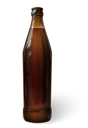 bar ware: Beer in a bottle, vector Illustration