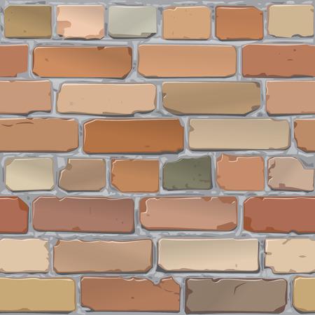 brickwall: Pared de ladrillo. Ladrillo viejo, rojo. Fondo. Vector