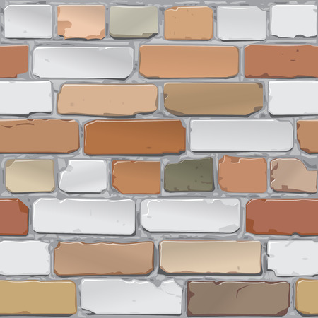 bakstenen muur: Brick wall. Brick gray, red. Background. Vector Stock Illustratie