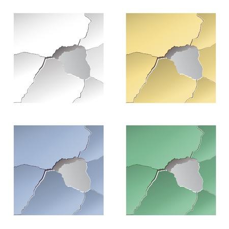 mur platre: Concrete wall. Plaster, paint, repair. Paper, cardboard. Wallpapers.Vector
