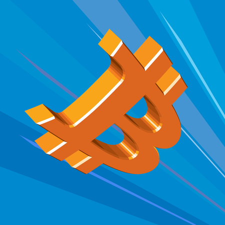 quick money: Bitcoins - virtual money. Quick flight. Symbol Illustration