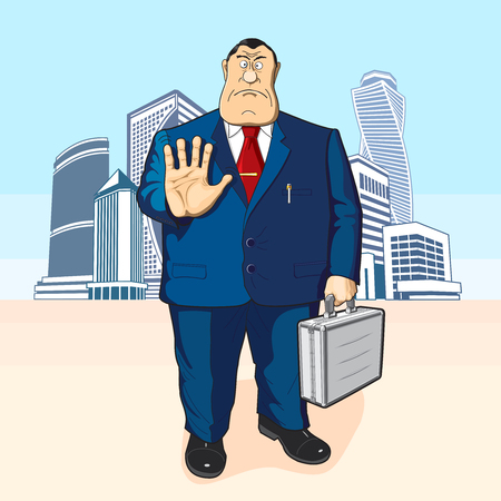 tall buildings: The director or the banker against the backdrop of tall buildings