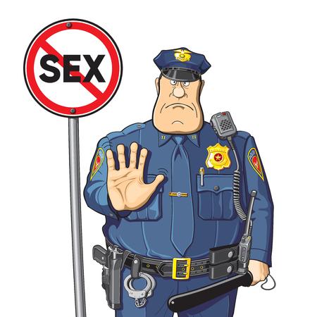 Firmar sexo sin prohibición policial o advertencia Foto de archivo - 68179851