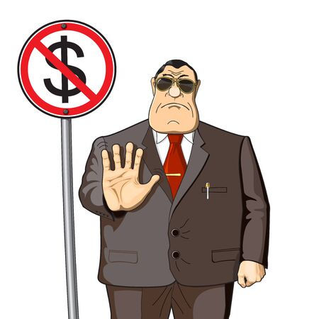 Boss, businessman or banker does not give money