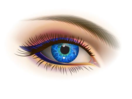 Ojo azul femenino Foto de archivo - 85862238