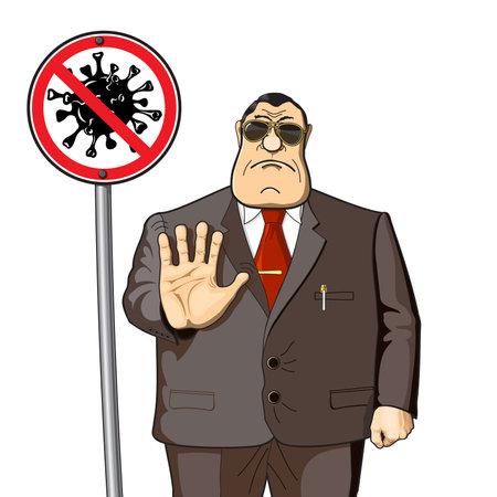 President, politician or official bans the coronavirus epidemic