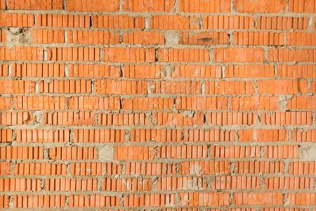 paredes de ladrillos: ladrillo rojo ladrillo fresco, con luz natural Foto de archivo