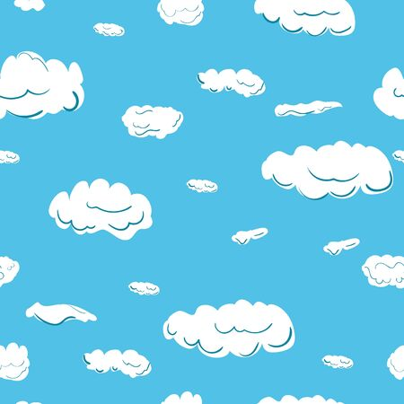 heavenly light: seamless pattern background of blue sky, clouds consisting