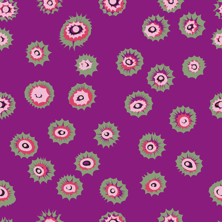 blown: Eyes circles or colored blown seamless pattern. Vector texture