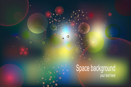 afar: Abstract Background. Multi-colored balloons bubbles. Vector illustration