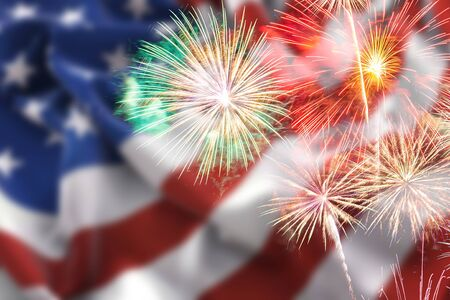 Fireworks background for Independence Day, Fireworks background for 4th of July
