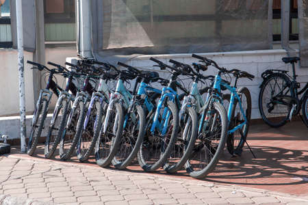 Turkey, Marmaris - 5th Oct 2021. Bicycle rental in the resort town of Marmaris, Turkey.