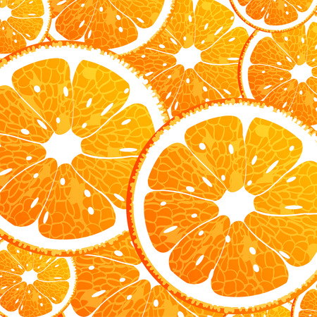 abstract fruit: Vector illustration  of a seamless background with orange Illustration