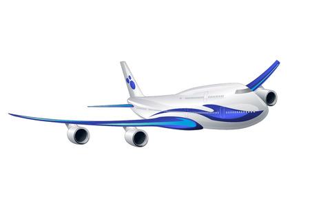 boeing: Vector illustration of a big airplane flying Illustration