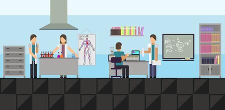 medical laboratory: Vector illustration of a big medical laboratory
