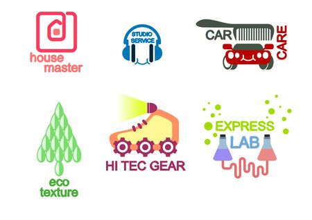tec: Vector illustration of a six icon set