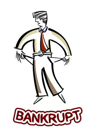 with no money: Vector illustration of a businessman with no money