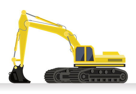 illustration of an excavator on the white background Illustration