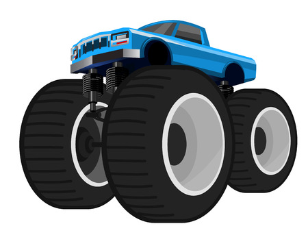 illustration of a car on big wheels