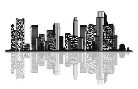 Vector illustration of a silhouette of the city