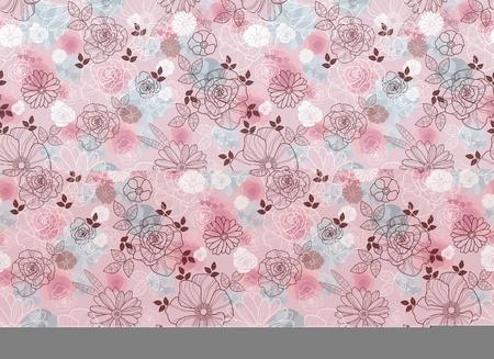 Vector illustration of seamless floral gentle pattern Ilustracja