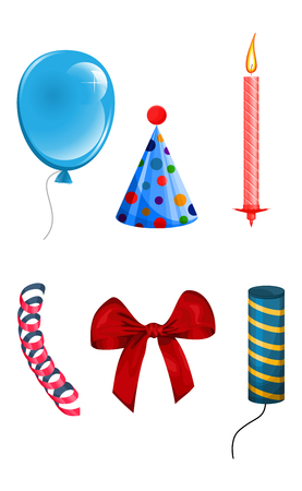 Vector illustration of set of items for the holiday