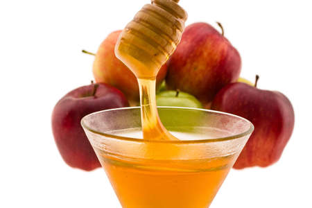 honey and apple symbology new year beside jude Stock Photo - 4101126