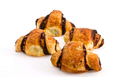 Croissant by a breakfast on a white background Stock Photo - 4109958