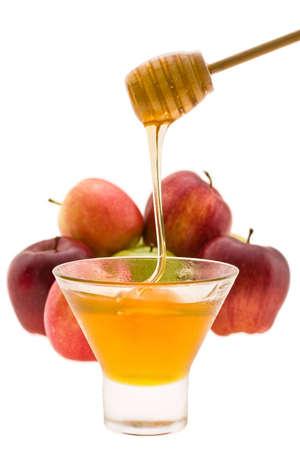 honey and apple symbology new year beside jude Stock Photo - 4122249