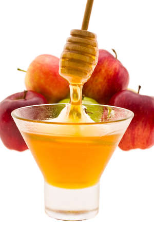 honey and apple symbology new year beside jude Stock Photo - 4122711